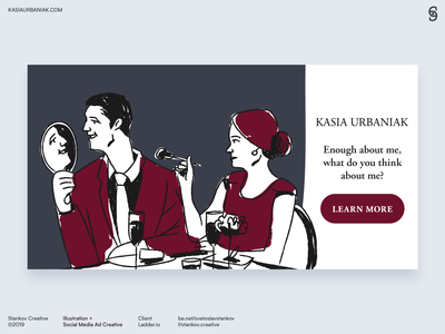 Kasia Urbaniak social media ad creative 1 instagram ad facebook ad social media ads instagram facebook logo flat design flat brand design icon flat illustration vector branding illustration