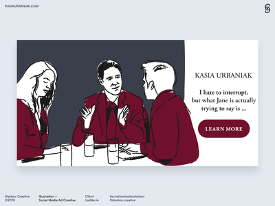 Kasia Urbaniak social media ad creative 2 social media linkedin instagram facebook logo flat flat design brand design icon flat illustration branding vector illustration