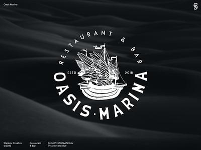 Oasis Marina typography logos logotype logodesign logo brand identity brand design flat illustration illustration vector