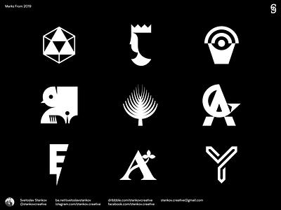 Marks From 2019 typography logodesign logotype logos vector branding logo brand design