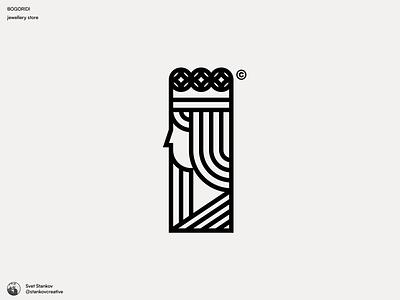 Bogoridi Jewellery Store Logotype flat design icon brand identity brand design branding silhouette logo design logodesign logotype logo jewellery logo store jewellery jewelery jewelry
