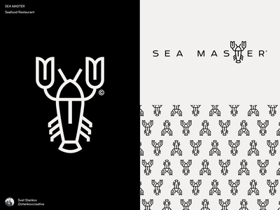 Sea Master Logo v2 food restaurant flat design icon logotype logos brand identity flat illustration logo brand design branding