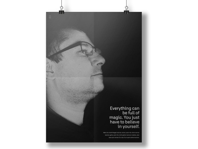 Poster design. Just believe in yourself. poster designer graphics graphic poster design poster design graphicdesign