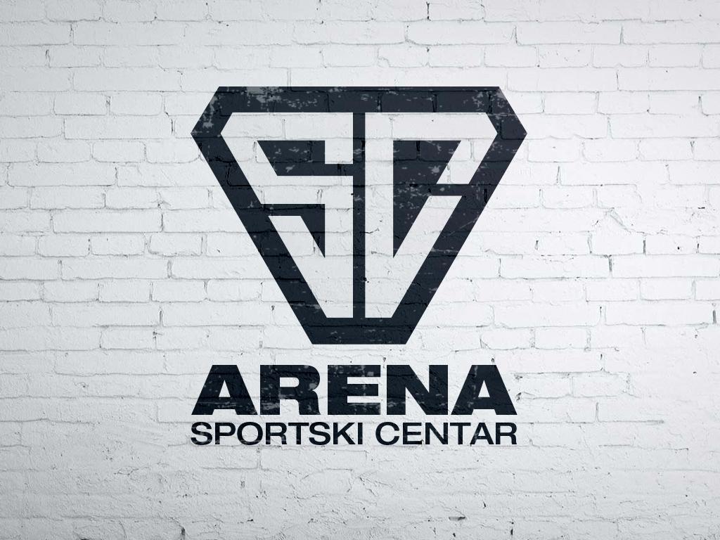 Sport center arena logo fitness sport gym