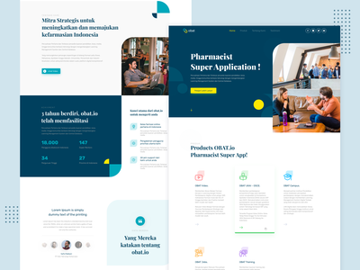 Pharmacist Landing Page typography flat website web design ux ui app