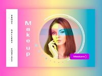 Homepage for make up artists