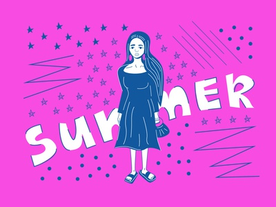 Just summer illustration