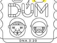Per Vers single cover for song DUM