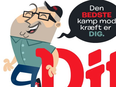 Ditliv character mascot proposal mascot illustration cancer denmark
