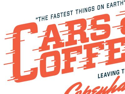 cars and coffee cars coffee identity speed logo