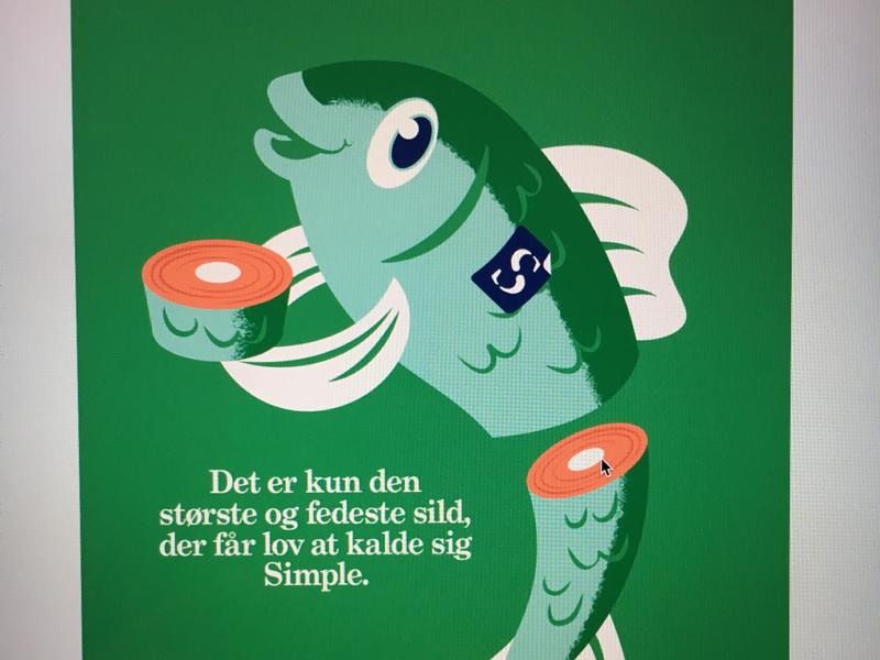 Simple. Fish illustration