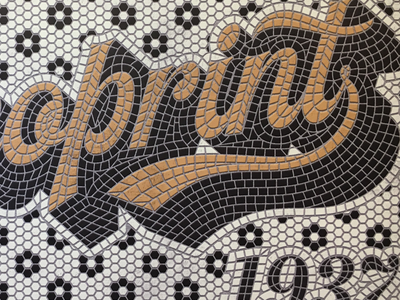 Fun with mosaics. Done in illustrator. illustrator typography mosaic