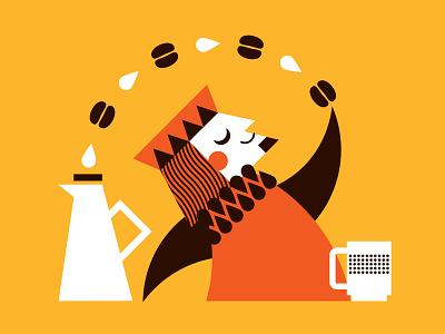 Coffee King1 illustration king coffee