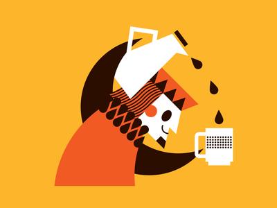 Coffee King2 illustration king coffee
