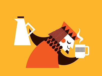 Coffee King3 illustration king coffee