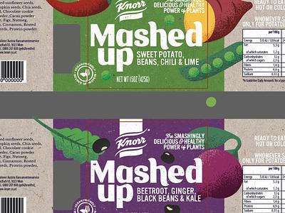 Product development. design and illustration packaging design healthy food vegetables illustration product