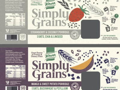 product development 2. design and illustration illustration healthy food oatmeal product