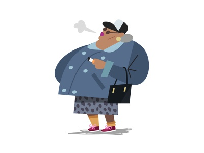 Smoker illustration illustrator vector illustration lowpoly styleframe london city concept art styleguide fashion street style style vector character design characterdesign character smoking smoker