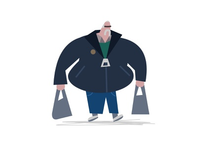 Shopper vector illustration vectors urban fashion styleframes low poly styleframe vector illustration concept art characterdesign character character design london city