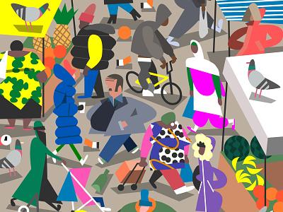 market 01 street style streetstyle street style fashion pigeon londoner people lowpoly low poly characterdesign character design characters london market market london