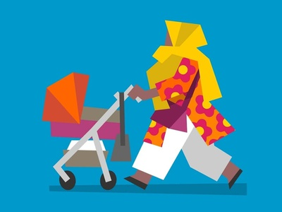 Stroll styleframes style frame styleframe character design lowpoly character concept art illustration city london low poly vector