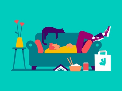 Lounging styleframes style frame styleframe concept art character illustration vector