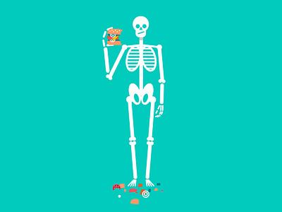 Skeleton character illustration vector skeleton halloween design halloween