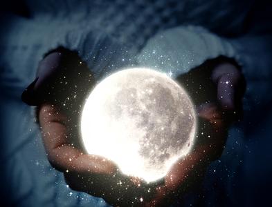 Moon In the hand -Photo maniputation