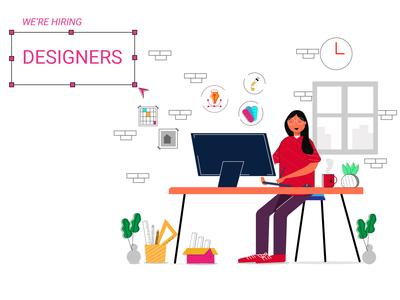 Concept Illustration - hiring designers