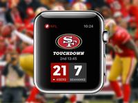Rebound: Apple Watch NFL Game Tracker Concept