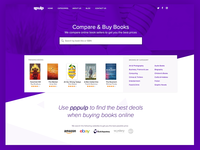 pppulp - find, compare and buy books purple comparison aggregator home page landing page search books pppulp