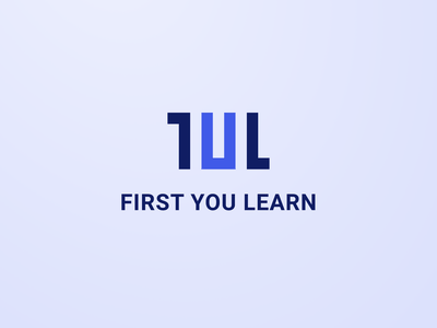 First You Learn - logo conference meetup branding beautiful meeting figma digital meet design uiux logodesign logotype logo design logo