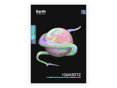 """EARTH"" Poster poster design abstract art abstract design colors cosmic poster art poster"