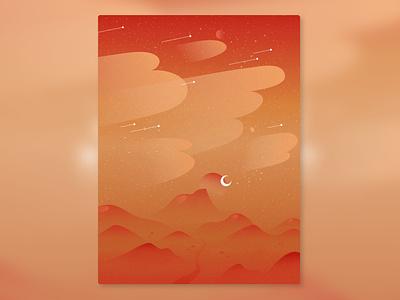 Desert Breeze poster graphic design minimal illustrator illustration gradient design