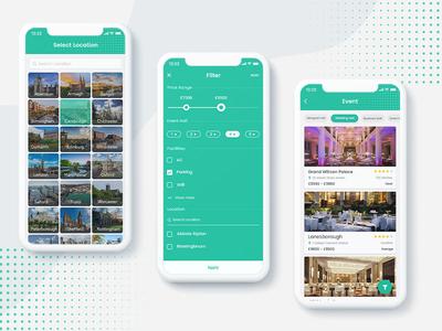 Location, Filter, Event List