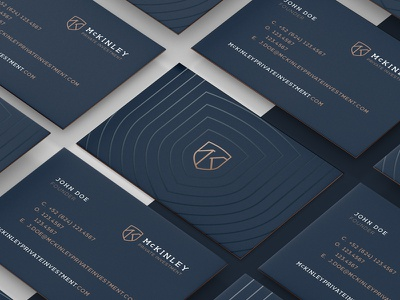 McKinley Business Cards investment bank spot uv