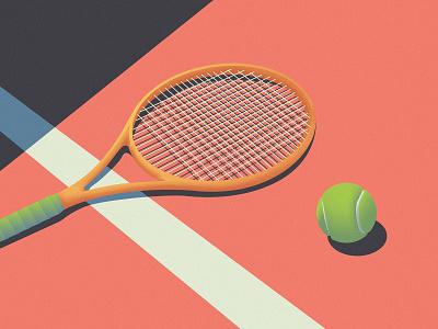 Tennis Vibes vector noise noise shadow ball tennis illustrator illustration illustraion