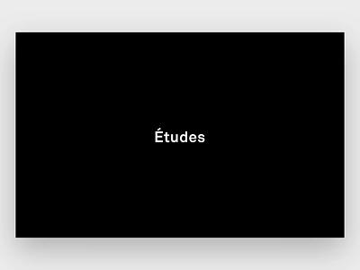 Études Paris Website Animation fashion design digital branding website paris landing page etudes fashion website animation animation ecommerce