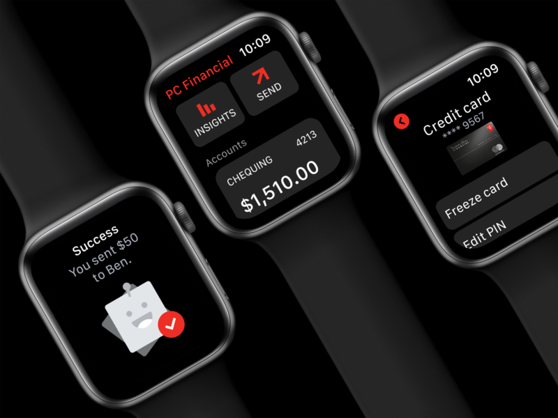 PCF watchOS App wearable tech watch app apple watch watch series 5 solvers banking bank app bankapp wearable watch applewatch watchos