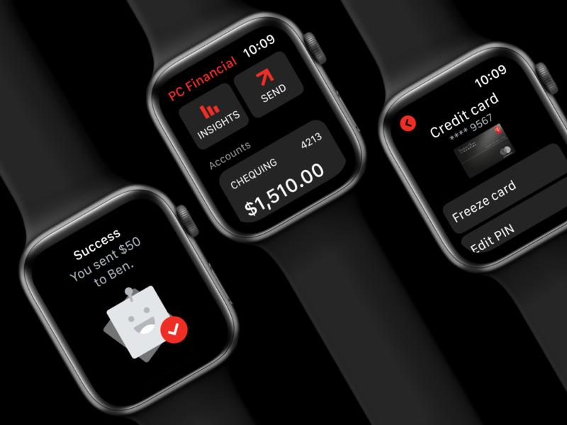 PCF watchOS App wearable tech watch app apple watch watch series 5 solvers banking bank app bankapp wearable watch applewatch watchos
