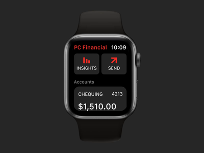 PCF watchOS App – Home Screen styleguide design system style guide smartwatch watch banking bank app financial app financial fintech wearable applewatch iwatch watchos apple watch