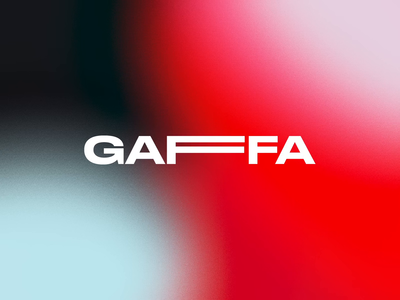 Gaffa Logo motiongraphics thisisnotatape tape animated logo motion design motion experimental theater digital brand branding visual identity logotype logo
