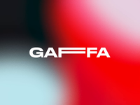 Gaffa Logo motiongraphics thisisnotatape tape animated logo motion design motion experimental theater digital brand branding visual identity logotype logo