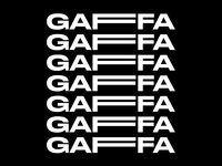 Gaffa Logo design system branding digitalbrand digital brand preloader visual identity theater experimental logo animated logo motiongraphic motion design