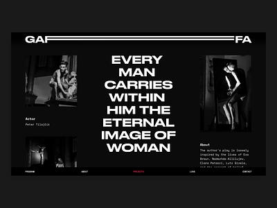 Gaffa Website art theater responsive logo branding website readymag web design webdesign
