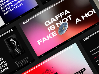 Gaffa Website website concept web design website design readymag ux ui theater webdesign website
