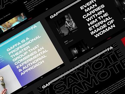Gaffa Website readymag artistic ux ui websites website concept theater webdesign website