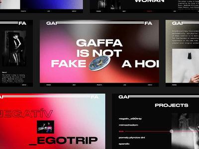 Gaffa Website brutalist design brutalist performance theater theatre web webdesign branding readymag website