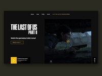 The last of us Part II homepage
