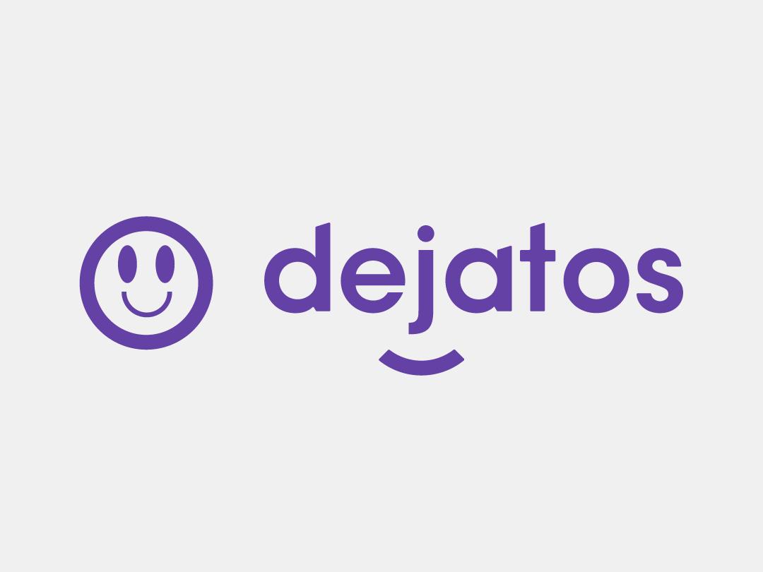 Dejatos logo exploring explore illustrator logos logo deisgn smiley face smiley branding logo vector icon minimal designer design